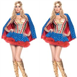 Wholesale Magic Wonder Woman Cosplay Dress Cloak Super Stars American Anime Hero Halloween Performance Props Sexy Cosplay Costumes Promotion SD606