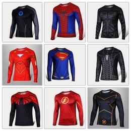 online shopping 2015 hot sale shirt Captain America long sleeve t shirt men s clothing cycling jerseys Superhero Movie t shirts DHL Free