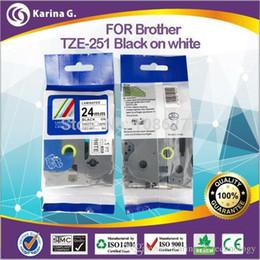 24mm Noir Sur Blanc cassette de cassette de remplacement pour Brother lable Tapes 24mm * 8m