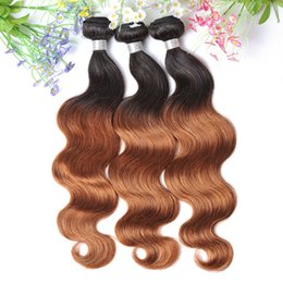 2017 ombre two tone color virgin hair Women Hair Malaysian Ombre Human Hair Weave 1B 30 Two Tone Virgin Hair Body Wave 7A 100% Unprocessed Cheap Hair Weaving for Thanksgiving ombre two tone color virgin hair promotion