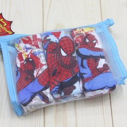 Wholesale 2015 NEW child cotton underwear kid s cartoon spider man panties boy spiderman shorts designs ps in retail bag C144