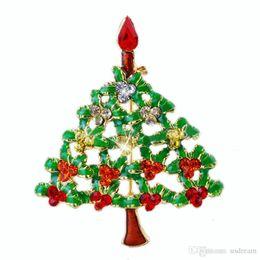 Christmas Brooch Drip Diamond Crystal