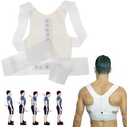 Wholesale Fantastic Magnetic Therapy Posture Support Corrector Adjustable Belt Back Pain Lumbar Belt Brace Shoulder support