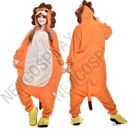 Wholesale 2015 New Cheap Hot Sale Lovely Kigurumi Pajamas Anime Costumes Cosplay Adult Unisex Onesie Dress Sleepwear Halloween Lion