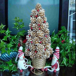 wholesale 9x christmas pine cones baubles xmas tree party hanging decorations ornament home decor wholesale free shipping - Christmas Decorations Wholesale