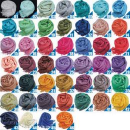 Mezclado cachemira de Pashmina sólido señoras de las muchachas de la bufanda de la bufanda suaves flecos sólido abrigo del mantón de las mujeres
