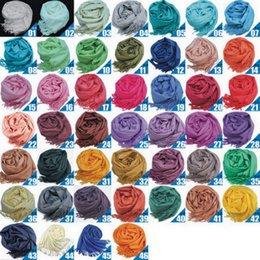 Смешанное пашмины Кашемир Solid обруча шали женщин девушки дамы шарф Мягкие Бахрома Твердый шарф