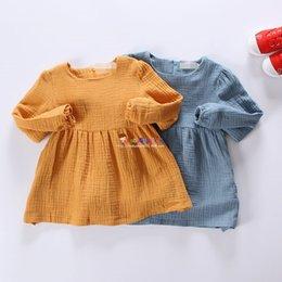 Wholesale Kids Girls Autumn new children dress skirt Korean children baby long sleeved and long sections skirt