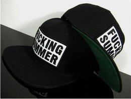 Wholesale FUCKING SUMMER Letter HIP HOP snapback cap flat Baseball Cap women cap men Unisex hats Sun hat bone aba reta
