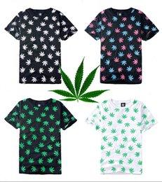 Wholesale 2015New leaf Weed T shirt women Mens Clothing Streetwear Skateboard Hiphop punk TShirt Short Sleeve tee shirt