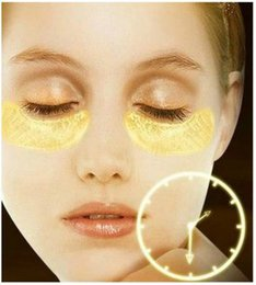 Wholesale 1000pairs DHL Gold Crystal collagen Eye Mask Hotsale eye patches