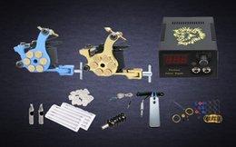 Wholesale Complete Tattoo Kit Tattoo Machine Guns Power Supply x Needles Set Tattoo ink cups