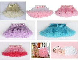 Wholesale NEW ARRIVAL baby girl infant toddler newborn pettiskirt tutu skirt chiffon skirt lace skirt bowknot pleats layers chiffon layer satin