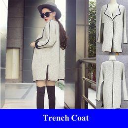 Wholesale Women Loose Kimono Cardigans Outerwear Cloak Trenchcoat Gagaopt Manteau Mantel Trench Coat Plus Size Autumn Catwalk Women