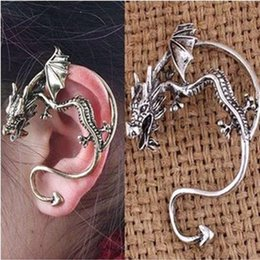 Wholesale Vintage Earrings Personal Earrings Vintage Earrings Fashion Mens Womens Personal Dragon Model Earrings Hot Mens Animal Model Earrings