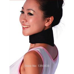 Wholesale Newest pc Neck Massager Brace Support Tourmaline Far Infrared Ray Heat Strap Relief Pain Massager personal Care