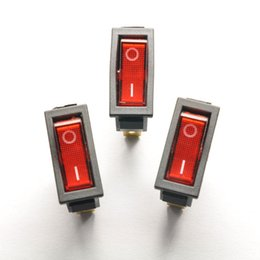 10pcs Luz Vermelha ON / OFF SPST Snap no interruptor do balancim do barco 3Pin 15A / 250V 20A / 125V A
