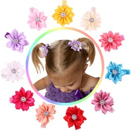Wholesale Children Corner flower Solid Fashion Beautiful Hair Clips New Arrival Beading Sunshine Cute Child Hair Clips