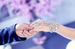 2016 Бесплатная доставка Элегантный свадьбы Люкс Кристалл Rhinestone браслет выпускного вечера партии ювелирных изделий с кольцом браслете Bracele