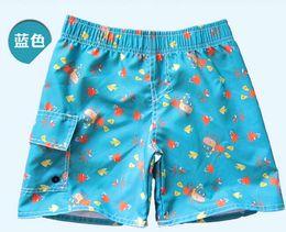 Wholesale New summer children shorts kids beach wear boys girls fish shells octopus monkey cartoon short green blue white orange Y A247