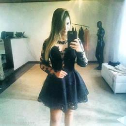 Wholesale Kim kardashian Celebrity dress Women Black Mini Lace Chiffon Evening dresses Jewel Tulle Tunic Custom plus