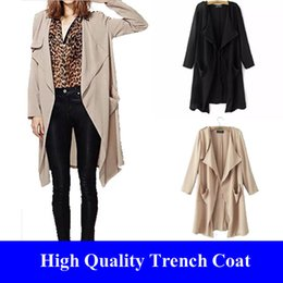 Wholesale Black Kimono Cardigan Long Women Trench Coat Manteau Femme Mantel Outerwear Trenchcoat Overcoat Cazadoras Abrigos Mujer