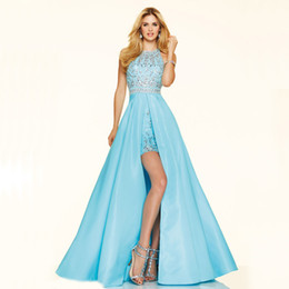 Turquoise Prom Dresses High Low Online | Turquoise Blue High Low ...