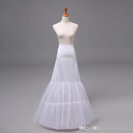 Wholesale 2015 Vestido nupcial nupcial de la falda de la crinolina de la enagua de la enagua de la trompeta de la sirena del vestido de boda de las nuevas llegadas Tulle Nupcial