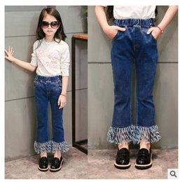 Wholesale Girls Jeans Fashion Tassels Slim Jeans Kids Pants Korean Girl Dress Spring Denim Trouser Children Clothes Kids Clothing Lovekiss C21945