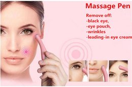 Wholesale New makeup beauty tool massage pen vibrator times minutes to remove off black eye pouch wrinkles face care tool