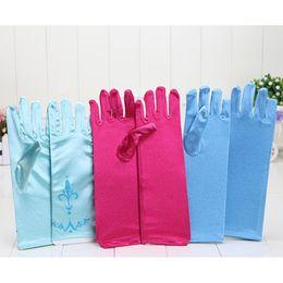 Wholesale Frozen gloves Frozen princess elsa long gloves frozen costume gloves kids costume gloves