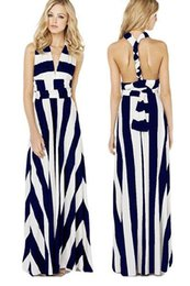 Striped Maxi Dress Navy Online  Striped Maxi Dress Navy for Sale