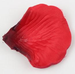 Wholesale 4000pcs Dark Red Colors Pretty Fabric Flower Rose Petals Wedding Party Decoration