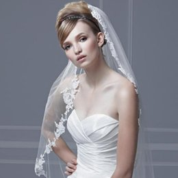 Wholesale 2014 Hot Sale Soft Tulle Wedding Veil Box Pleated Organza with vintage lace White Ivory with Any Organza Color Bridal Mantilla