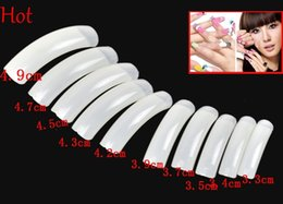Wholesale 500Pcs Nude White False Nail Art Design Tips French Extra Long Acrylic UV Salon Design Nail Beauty Natural Colors False Nails