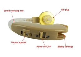 Wholesale Christmas gift Fashion Hearing Aids Digital Hearing Aids Aid Behind the Ear Adjustable Sound Amplifier Channels