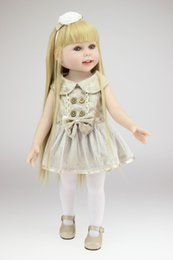 online shopping New Arrival inch Fashion Vinyl Girl Doll American Girl Doll with Beautiful Clothes Long Straight Blonde Hair