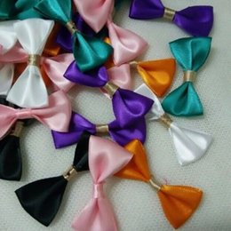 Wholesale 30Pcs Satin Ribbon Bows Wedding Decoration Headband Jewelry Accessories