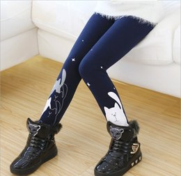 Wholesale 2015 New Arrivals Big Girls Cotton Leggings Children s Cartoon Leggings Tights Kids Clothing Girl s Casual Pants Trousers Colors