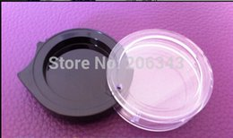 Wholesale 2G transparent black case or eyeshadow container or power container or blusher case Cosmetic Jar Cosmetic Packaging