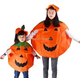 Wholesale 20set Adult Children Paternity Pumpkin Clothing Halloween Costumes Christmas Makeup Cosplay Characters Dress Masquerade Clothes