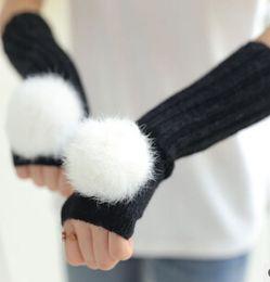 Wholesale Fashion Gir Nice Fall and winter Gloves FOR Big Gir Fashion Lisure Warmth Gloves C1B1A8