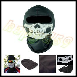 Wholesale bike bicycle motorcycle Ghost biker skull hood face mask ski balaclava CS Sport helmet snood hat scarf cap neck Ghost Scarf