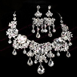 Wholesale Brand New Bridal Jewelry high grade Crystal fashion gifts parure joyas schmuck costume jewelry sets women