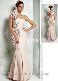 Wholesale New Design Tarik Ediz Evening Dresses Backless Mermaid One Shoulder Beaded Ruffles Satin Plus Size Celebrity Pageant Dresses Prom Gowns