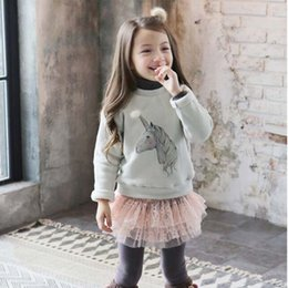 Wholesale Girls Shirt Long Sleeve T Shirt Girls Tops Children T Shirts Winter T Shirt Girl Dress Kids Shirts Child Clothes Kids Clothing C16556