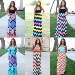 Wholesale Womens Dress Summer New Long Maxi Dress Hot Sale Vintage Vestidos De Festa Tank Chevron Curvy Bodycon Dress