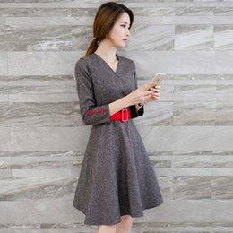 Wholesale Tweed Dress Vestido De Festa Korean Kawaii Winter Dresses Tunique Femme Pin Up Vintage S S Clothing Vestidos