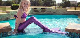 Wholesale New Hot Sale Kids Girls Mermaid Tail Swimsuit Fashion Children Girl Costume Bikini Sets Outfits Fancy Dress Of Colors CM