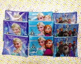 Wholesale Frozen Coin Purse Elsa Anna Olaf Cartoon Pattern Childrens Short Wallet For Kids Gift Style SS0427